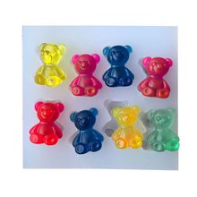 8pcs Lovely Bears Shape Silicone mould for Handmade bracelet manual Ring PU epoxy UV doming resin adhesive jewelry diy