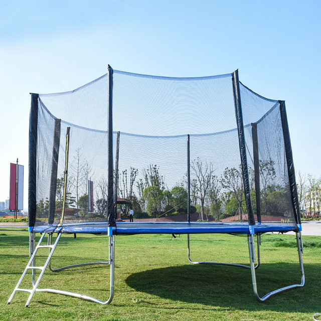 12 FT Trampoline With Large Safety  5