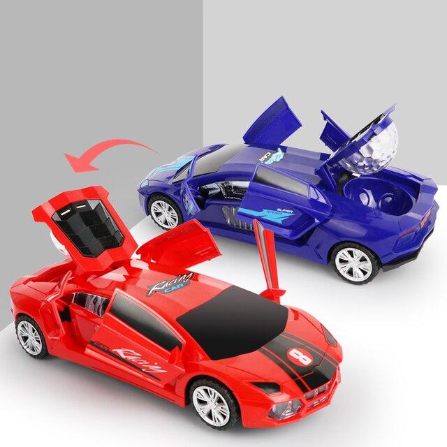 Electric dancing deformation rotating universal police car toy car boy toy child kid girl car Christmas birthday gift 2
