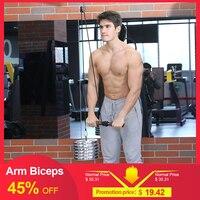Brazo Blaster Biceps tríeps bandas elásticas para palo de ejercicios tira de cuerda rodillo de muñeca para Fitness mano strengtener entrenamiento Guma