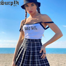 Streetwear New Sleeveless Letter Printing Tank Top Summer Clothes For Women Fashion Color Contrast Sling Tops Vestido De Mujer
