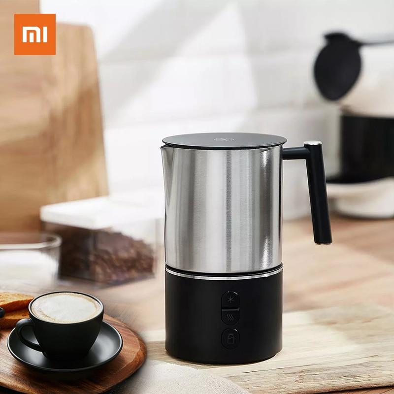 Электрический Пенообразователь для молока Xiaomi Scishare, аппарат для приготовления кофе с пузырьками, аппарат для приготовления латте и сливок, согревающий кувшин для капучино 220 В Кофеварки      АлиЭкспресс