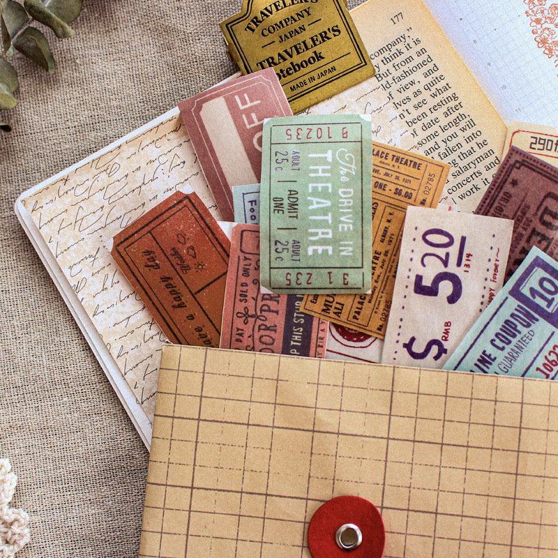 * Old Stuff  Series Color Washi Masking Tape Release Paper Stickers Scrapbooking Stationery Decorative Tape