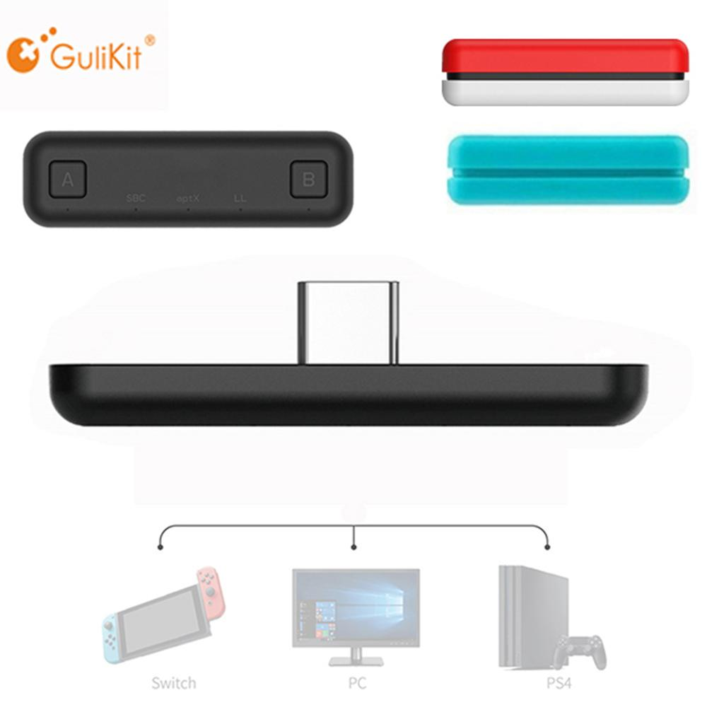 GuliKit NS07 Route Air Wireless Bluetooth Adapter Audio USB-C Transmitter for the Nintendo Switch / Switch Lite PS4 PC Game(China)