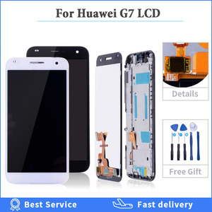 High Quality For Huawei G7 LCD Touch Screen with frame For Huawei G7-L03 G7-L01 Display Digitizer Assembly Replacement Parts 5.5