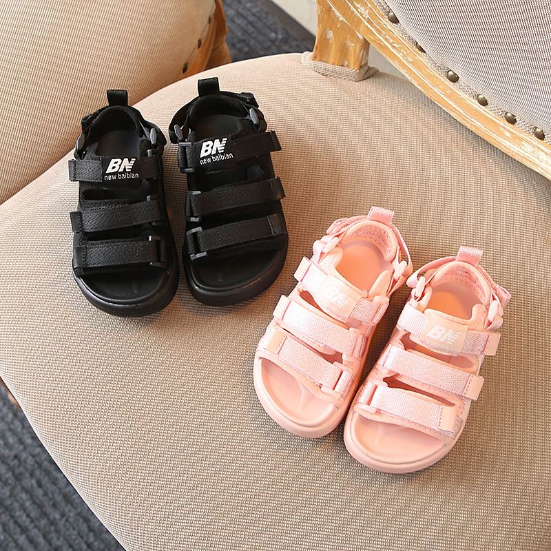 Children's Casual Sandals Summer New Children's Shoes Fashion Webbing Boys And Girls Soft Bottom Beach Shoes Baby Toddler Shoes