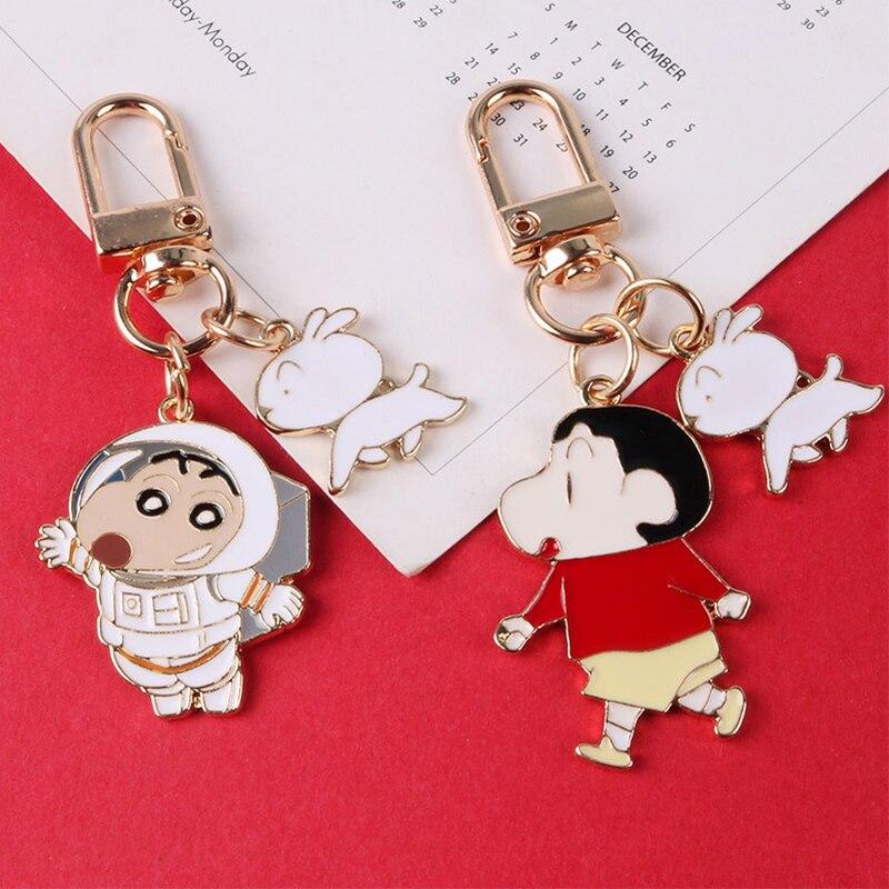 Chaveiro de metal dos desenhos animados do cão bonito anime chaveiro para as mulheres chaveiros carro saco pendent airpods chaveiros jóias