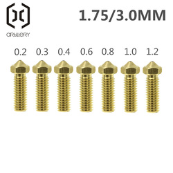 Volcano Nozzles 3D Printer All Metal Brass 3D Lengthen Extruder Nozzle 0.2/0.3/0.4/0.6/0.8/1.0/1.2mm for 1.75/3mm Supplies