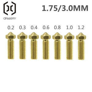 Volcano Nozzles 3D Printer All Metal Brass 3D Lengthen Extruder Nozzle 0.20.30.40.60.81.01.2mm for 1.753mm Supplies