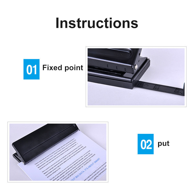 Manual 6 Holes Perforator Adjustable Universal Puncher For Files Paper Documents LHB99