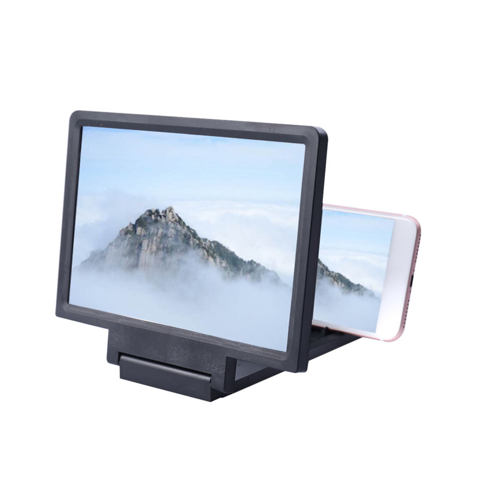 Phone Screen Magnifier Cellphone Projector Enlarged Amplifier Mobile Bracket Holder 3D HD Movie Video Stand image