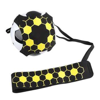 Soccer Trainer Football Kick Throw Solo Practice Training Aid Control Skill Adjustable Equipment Ball Bags Gift Football Trainer soccer ball juggle bags children auxiliary circling belt kids football training equipment kick solo soccer trainer