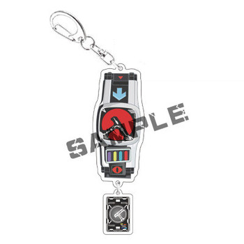 Japanese Anime Mask Knight Keychain Decade Ex Animation Peripheral Personality Creative Student Schoolbag Pendant image