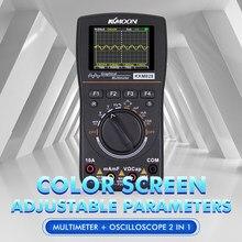 De alta Definição Gráfica Inteligente Multímetro Osciloscópio digital 2 em 1 1MHz Banda 2.5Msps Taxa de Amostragem