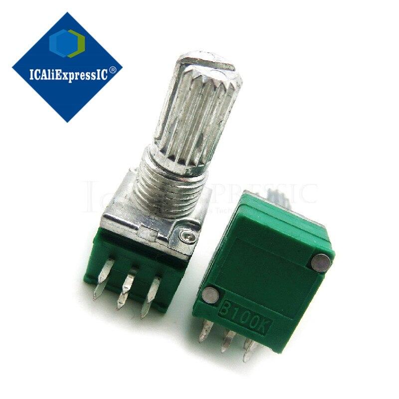 5 шт. RK097G 100K одного связаны потенциометра B100K с переключатель аудио 6pin вал 15 мм усилитель потенциометра уплотнение в наличии