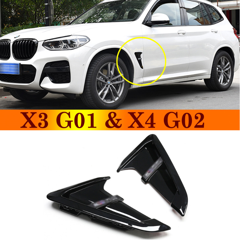 For <font><b>BMW</b></font> <font><b>X3</b></font> <font><b>G01</b></font> X4 G02 <font><b>Carbon</b></font> Fiber Side Fender Air Wing Vent Trim X3M / X4M Style Car decoration Accessories image