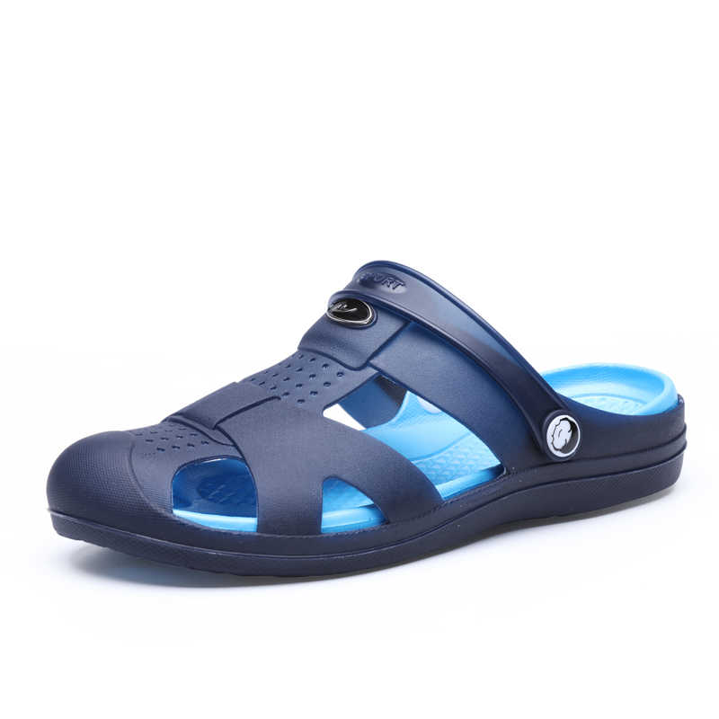 Men/'s Casual Leather Sandals Shoes Outdoor Beach Anti-slip Slippers Summer Blue