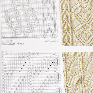 Image 5 - 2 pcs/lot New Latest knitting pattern of bar knitting Book 250/260 Chinese Edition HITOMI SHIDA Japanese Sweater Weave Pattern