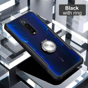 Image 4 - Hot Xundd Luxury Clear Case for Xiaomi Mi 9t / Mi 9t Pro Ring Case Shockproof Airbags Back Cover for Redmi K20 Pro Black  чехол