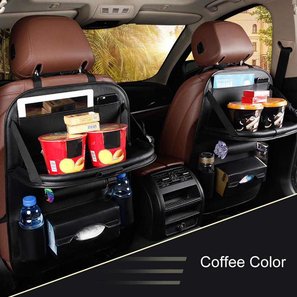 The New Durable Multifunction Foldable Adjustable Auto Car Backseat Snacks PC Storage Bag Sundries Organizer