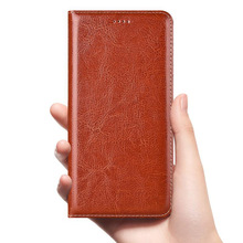 Crazy Horse Genuine Leather Case For Huawei Y5 Y6 Y7 Y9 Pro Prime 2017 2018 2019 P Smart Z Mobile Phone Flip Cover Cases