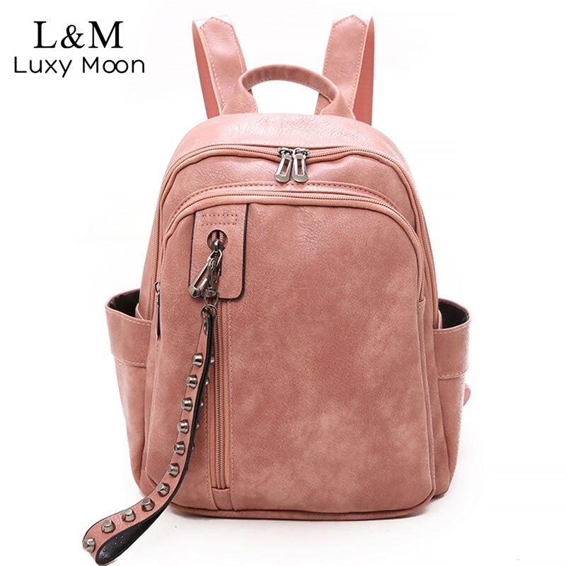 2020 Women Multifunction Backpacks For Girls Sac School Bags Vintage Leather Backpacks Female Mochilas Black Rucksacks XA572H