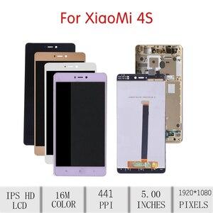 Image 2 - Pantalla ORIGINAL de 5,0 pulgadas para XIAOMI Mi 4S, montaje de digitalizador LCD con pantalla táctil para Xiaomi Mi4S, reemplazo de marco, pantalla Mi4s M4s