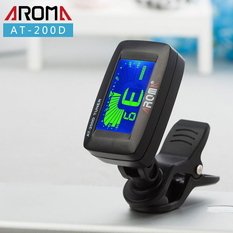 Universal Clip On Professional Guitar Tuner With Digital Chromatic LCD For Electric Acoustic Guitar Bass Ukulele Violin Banjo