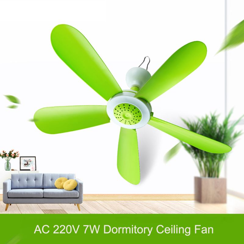 High Quality 7W 5 Leaves Mini Silent <font><b>Fans</b></font> Household Dormitory Bed Electric Hanging <font><b>Fan</b></font> Energy Saving Cooling Ceiling <font><b>Fan</b></font> image
