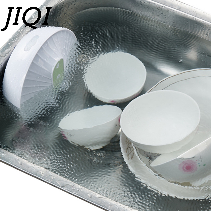 JIQI Mini Ultrasonic Dishwasher USB Rechargeable High Water Pressure Fruit Vegetable Washing Machine Cleaner Kitchen Dish Washer