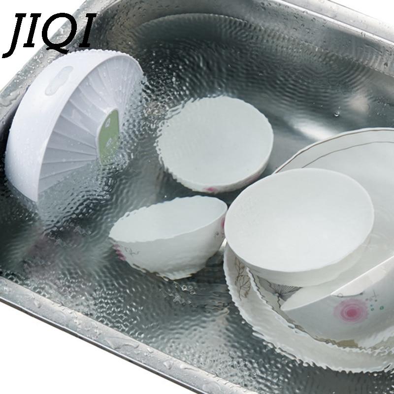 JIQI Mini Ultrasonic Dishwasher USB Rechargeable High Water Pressure Fruit Vegetable Washing Machine Cleaner Kitchen Dish Washer