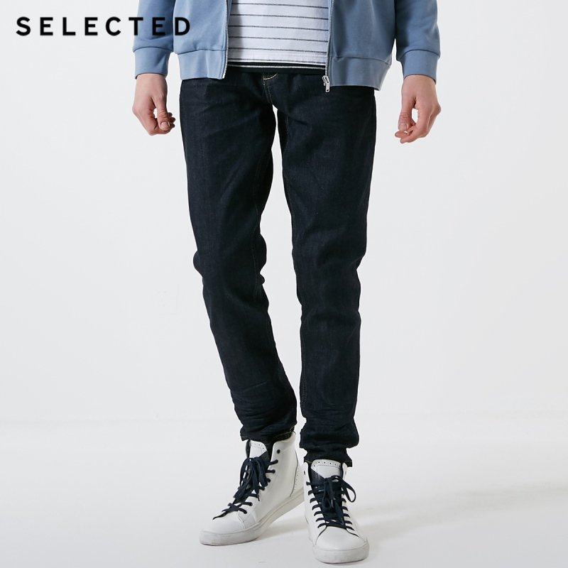 SELECTED Men's Summer Stretch Denim Pants Cotton Pleated Jeans C|419132509