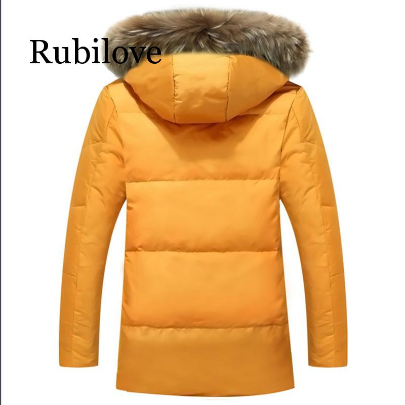 5XL White Duck Down Jacket 2019 Women Winter Goose Feather Coat Long Raccoon Fur Parka Warm Rabbit Plus Size Outerwear - 2