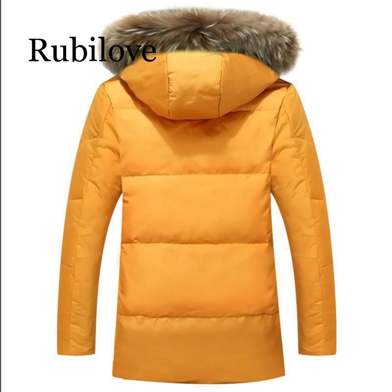 5XL Witte Eend Down Jas 2019 Vrouwen Winter Ganzenveren Jas Lange Wasbeer Bont Parka Warm Konijn Plus Size Bovenkleding - 2