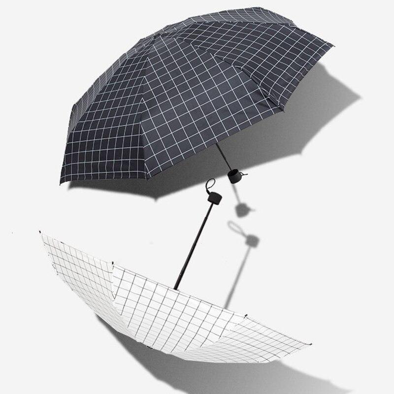 mini bolso guarda-chuvas guarda-sol 5-guarda-chuva dobrável para