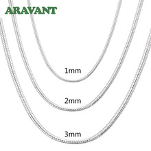 Necklace Snake-Chain Fashion Jewelry 925-Silver Men for Women 2MM/3MM