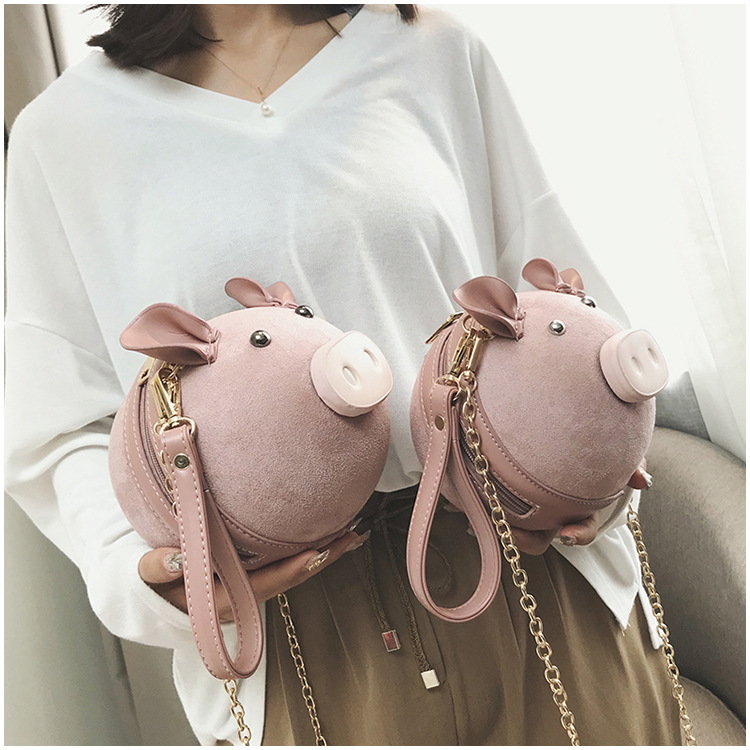 Handbags Crossbody Pig-Shoulder-Bags Messenger Funny Creative Cute Lovely Female Girls