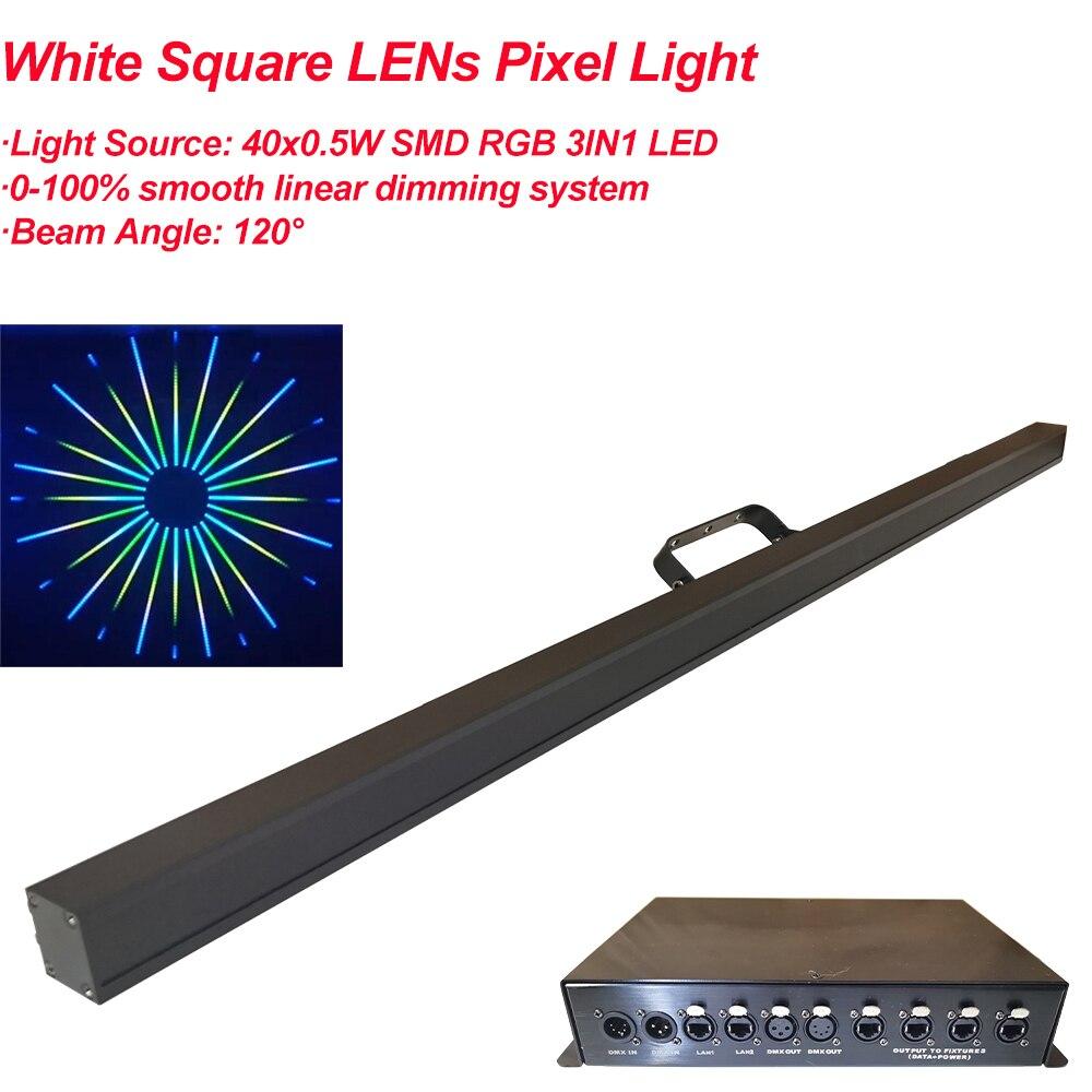 40 шт. Светодиодная лента для дискотеки с пиксельным управлением LED RGB 3в1, настенная шайба для вечеринки, Рождественский бар, DJ подсветка сцен...