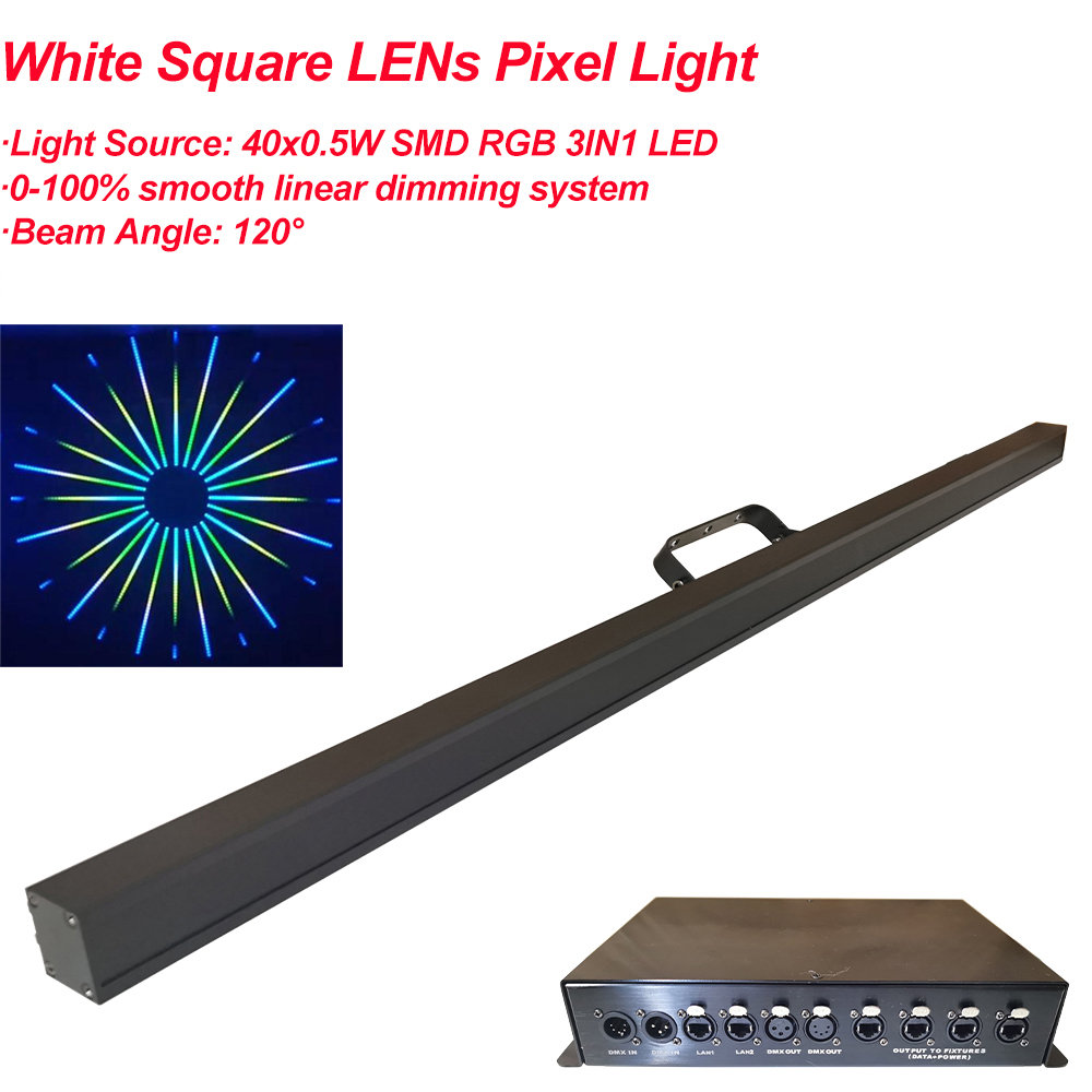 40 pces led barra de discoteca luz de tira com controle de pixel led rgb 3in1 luz da arruela da parede para festa natal barra dj palco backlight