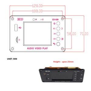 Image 5 - Bluetooth 5.0 2.8 Inch TFT MP3 Decoder Board  Audio Receiver HD Video Player AVI FLAC MOV APE Decoding FM Radio Alarm For Car