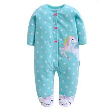 Baby Rompers clothes long sleeved for newborns Polar Fleece baby Boy Gril Clothing for Autumn/Winter Jumpsuits Cute Baby
