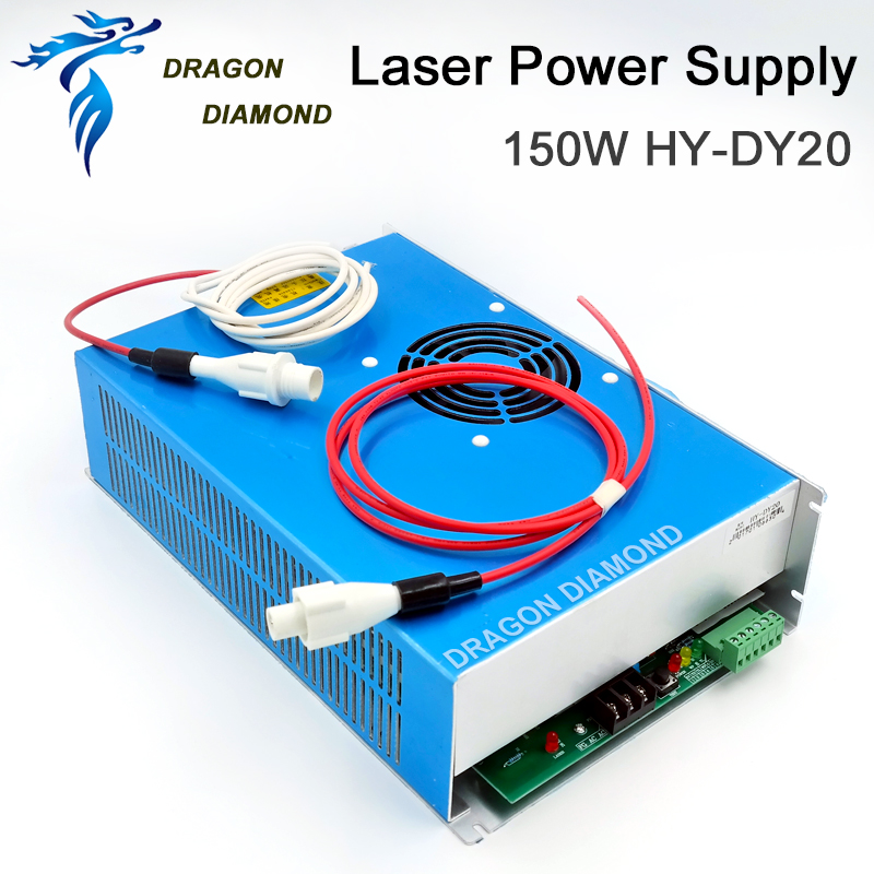 Купить с кэшбэком DY-20 CO2 Laser Power Supply 150W Suitable For RECI Z6/Z8 W6/W8 S6/S8 CO2 Laser Tube Used For Laser Engraving Cutting Machine