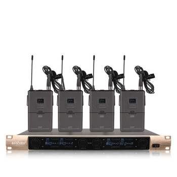 Professional wireless microphone system 4 lavalier microphone dedicated stage performance church school speech microphone