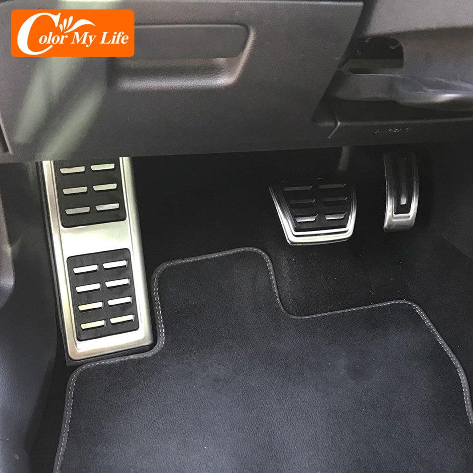 Цветные автомобильные педали My Life для VW Cross Coupe Arteon Jetta MK7 Touran 2016 2017 2018 2019 2020 аксессуары авто педаль накладка