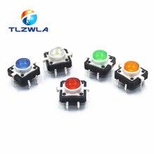 Bouton-poussoir Tactile momentané, 5 pièces, 5 couleurs, 12x12x7.3mm