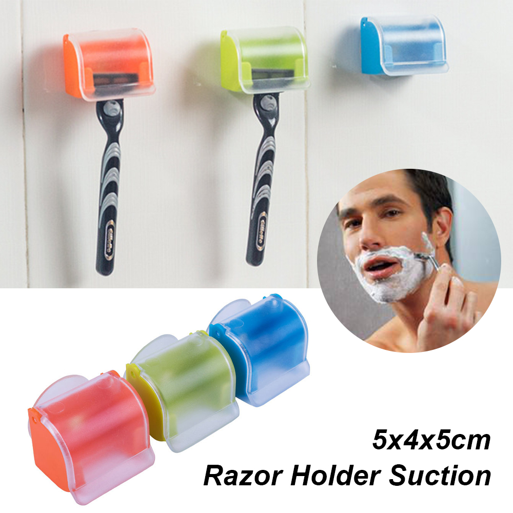 Suction Cup Shaver  Washroom Wall Sucker Hook Razor Bathroom Apply To Smooth Surface Washroom Shaver Holder