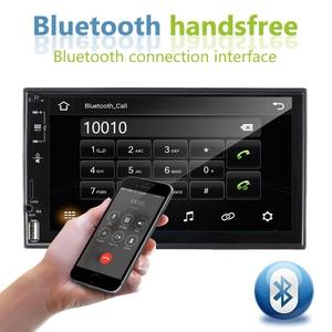 Image 4 - راديو سيارة من AMPrime 2 Din عالي الدقة ستيريو سيارة بشاشة 7 بوصات تعمل باللمس العالمية MP5 راديو سيارة USB FM AUX يدعم الكاميرا الاحتياطية ملحقات السيارة