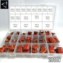 2000V 152pcs/box 24 Types 222 392 821 102 331 681 472 471 221 123 222 683 223 333 153 104 CBB Metal Film Capacitors Assortment