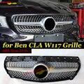 Для Mercedes CLA W117 C117 X117 Спортивная Передняя решетка гриль Алмазный Стиль Siler CLA200 CLA250 прямая 1:1 замена 14-18