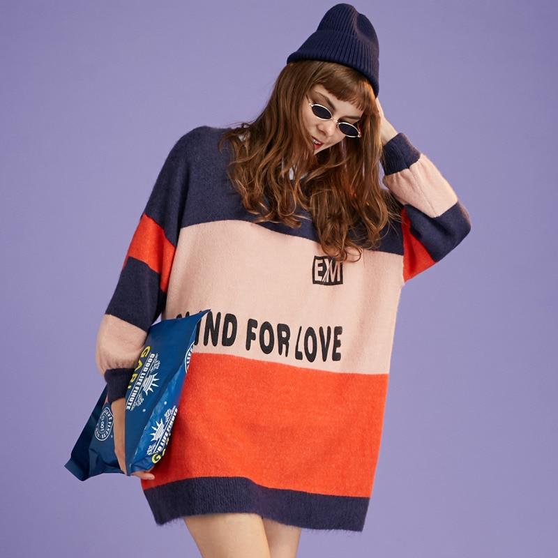 stripe stitching sweater 3